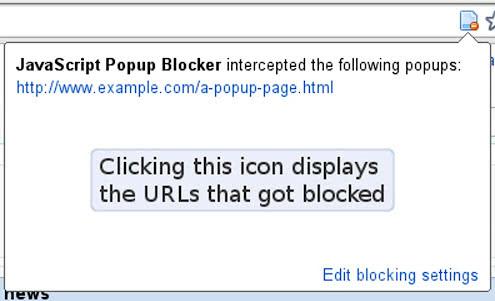 blocked popup