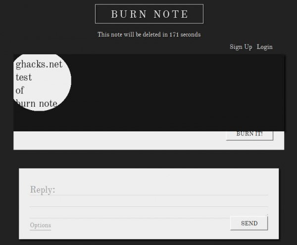 burn bote