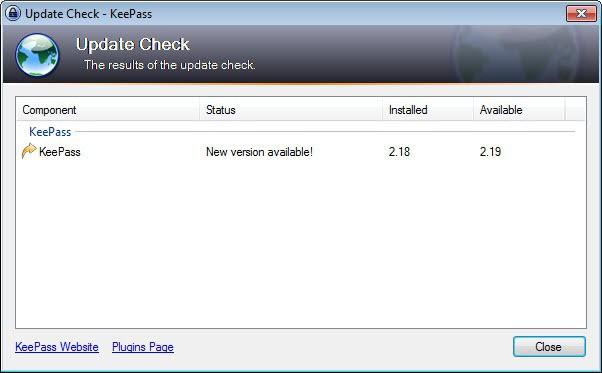 keepass password manager 2.19