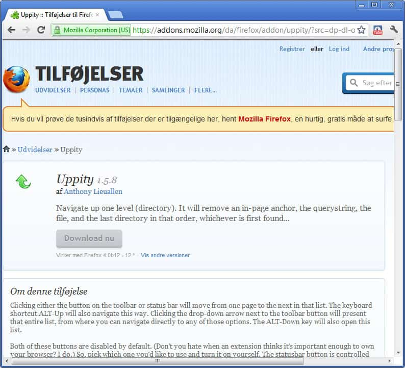 Add Ons Browser Mozilla Easy Youtube Video Downloader