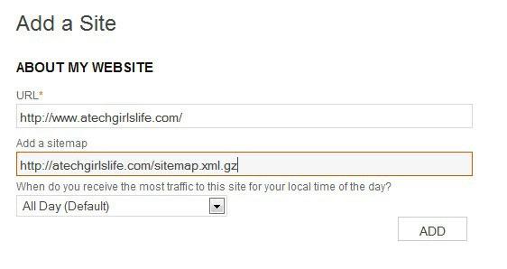 add site information