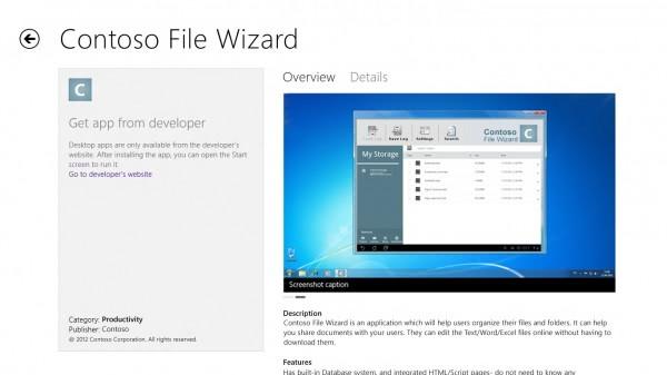 desktop apps windows store