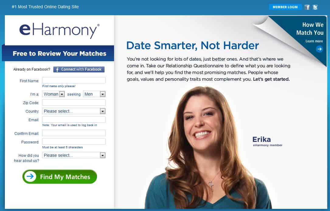 Eharmony log on