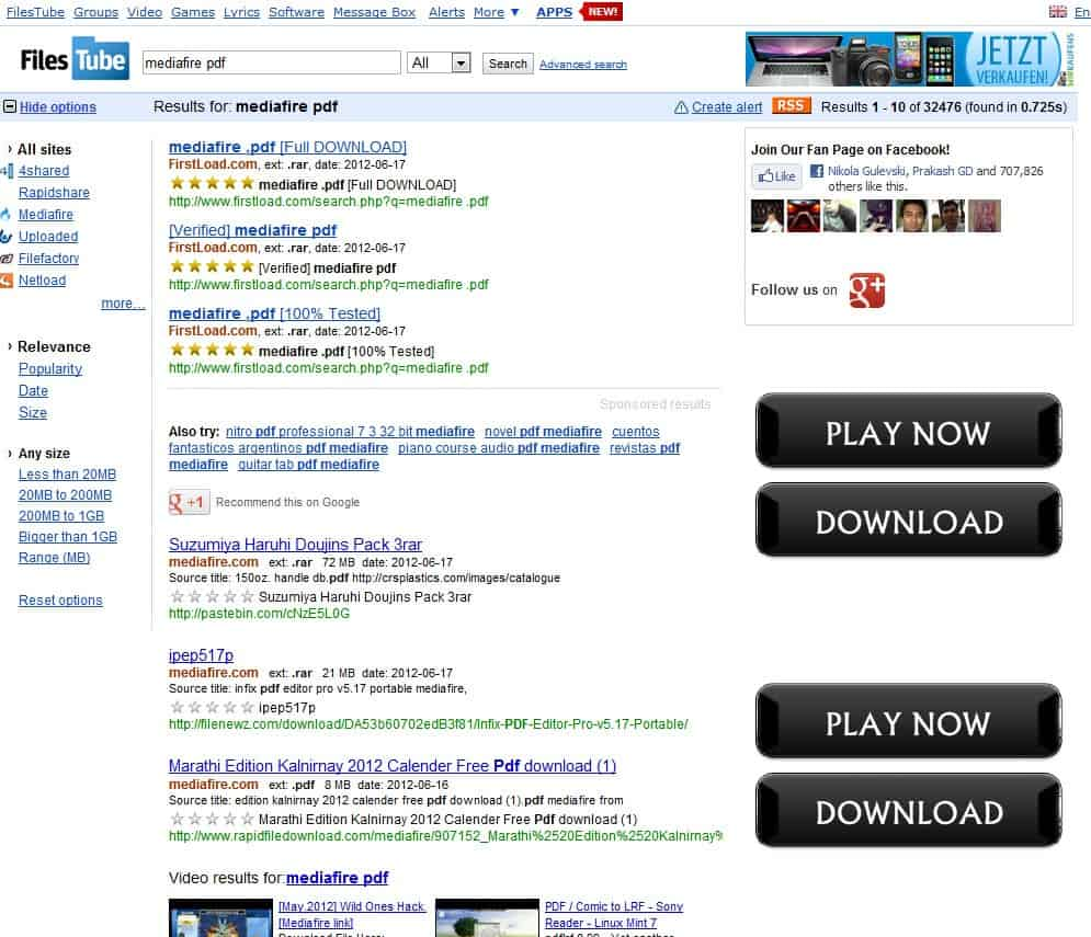 En customer account createpost/downloader - Mediafire Displays Many Ads On Its Download Page At The Top A Download Ad And Then Around The Actual Download Option Additional Ads Which At The Time Of