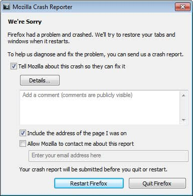 firefox crash flash player