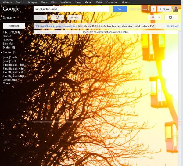 gmail custom theme