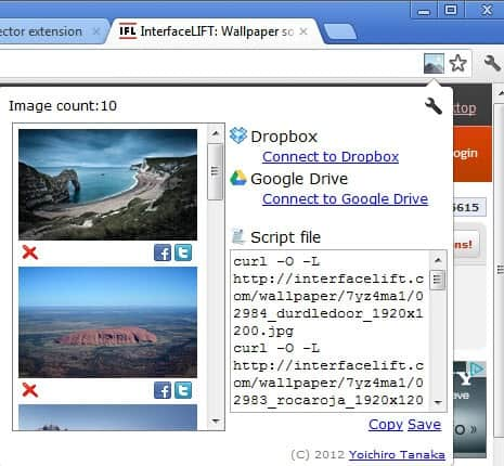 image collector extension