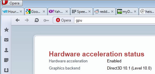 opera hardware acceleration