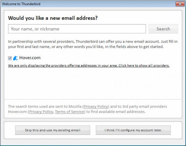 how to get old emails in thunderbird