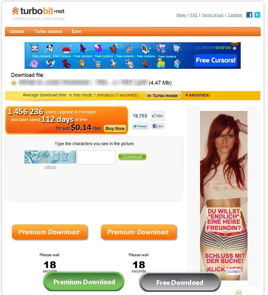 En customer account createpost/downloader - Finding The Right Download Button