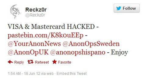Hacked credit card numbers pastebin