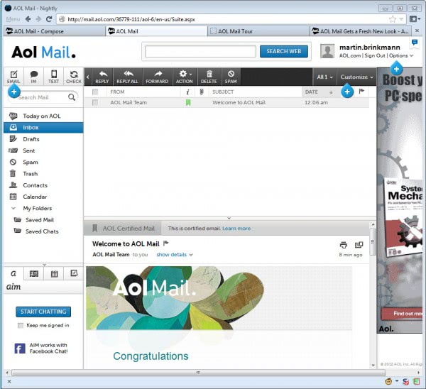 You Ve Got Mail I Just Created An Aol Mail Account