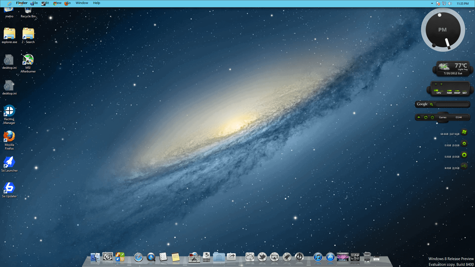 Transform windows 8 into mac os x ghacks tech news for Innenarchitektur mac os x