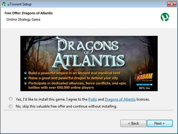 utorrent adware