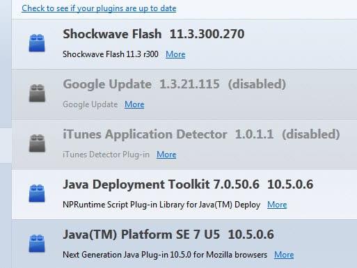 java vulnerability firefox blocklist