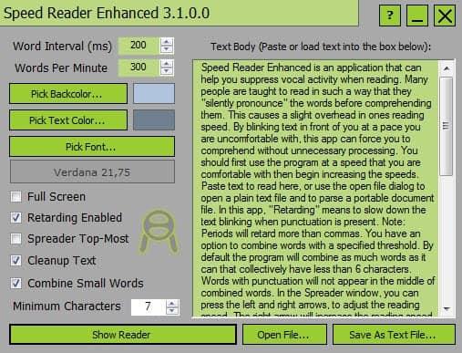 speed reader enhancer