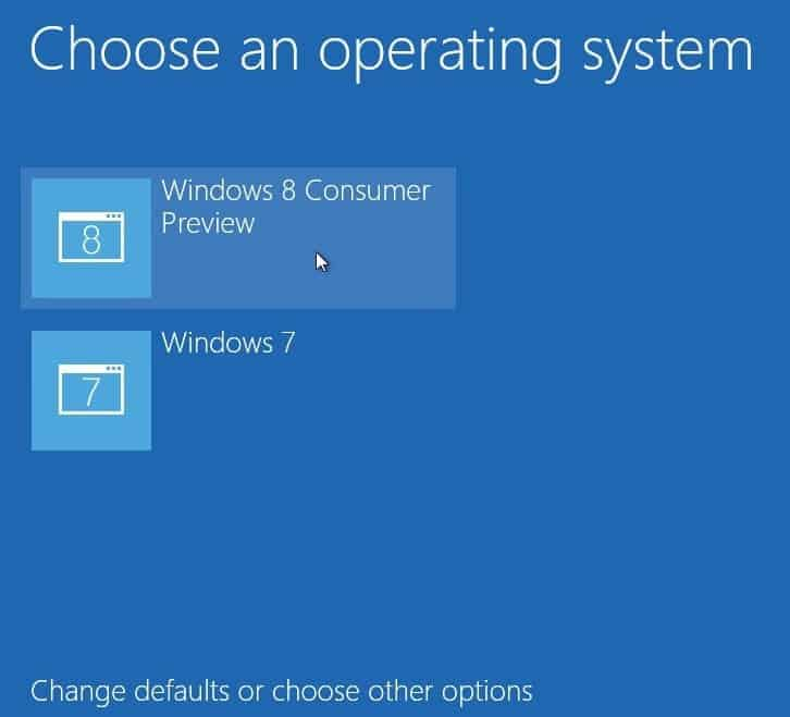 use the windows boot manager on a windows 8 dual boot