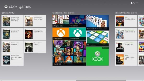 windows games xbox