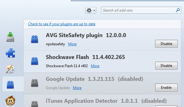 avg sitesafety plugin