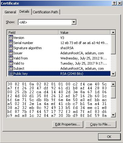 certificate key length