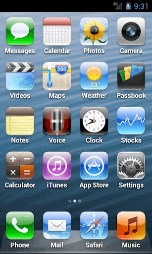 fake iphone 5 launcher