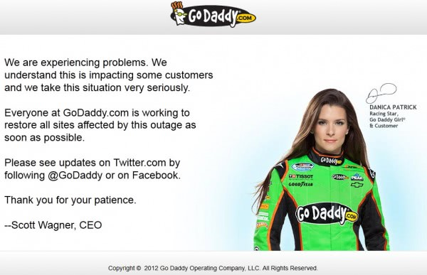 godaddy down