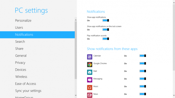 windows 8 notifications settings