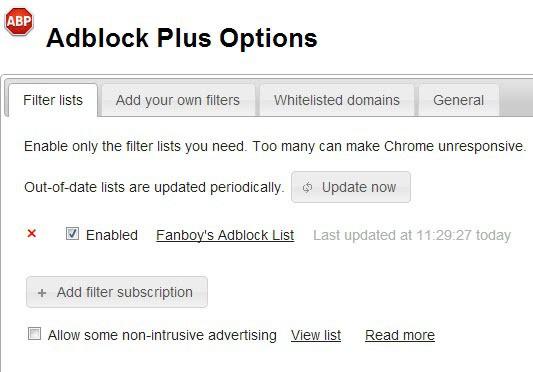 adblock plus non intrusive advertising