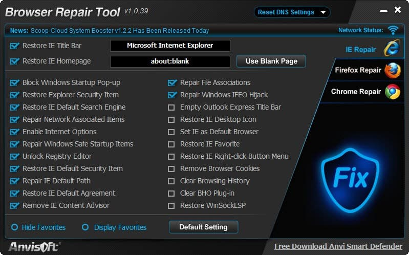 browser repair tool