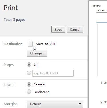 chrome save as pdf