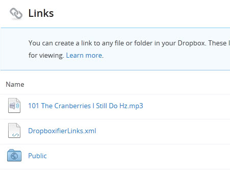 dropbox public files