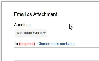 email as attachment office