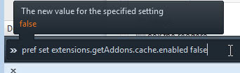 extension getaddons cache enabled