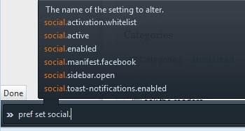 firefox social preferences