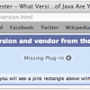 java missing plugin