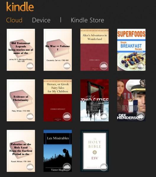 kindle app windows 8