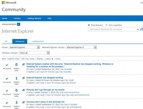microsoft support forum