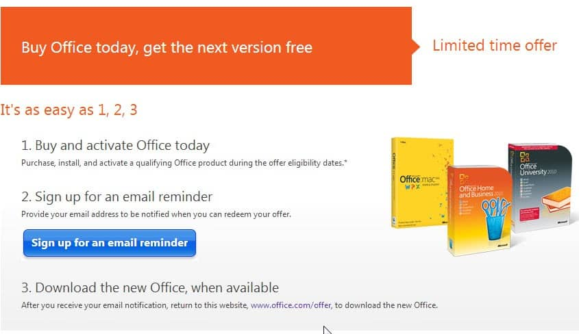 Buy office 2010 and get a free office 2013 upgrade - Product activation required office 2010 ...