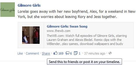 sharing facebook liking
