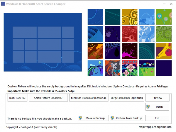 windows 8 startpage changer