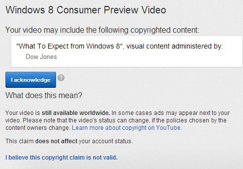 youtube copyrighted content