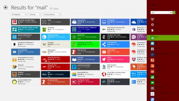 all search results windows store