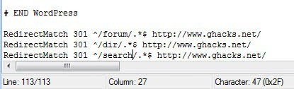 htaccess redirect folder