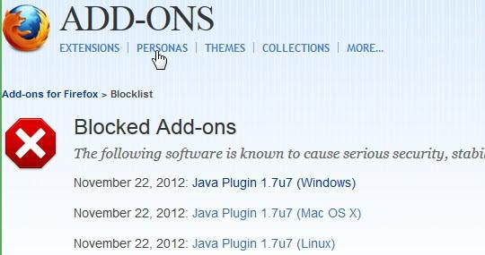 java blocklist