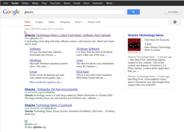 new google search tools on top