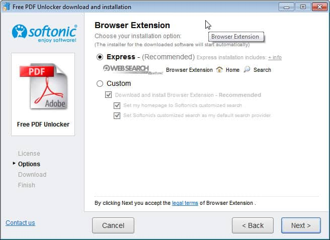 Download full programs from Softonic, Cnet and others