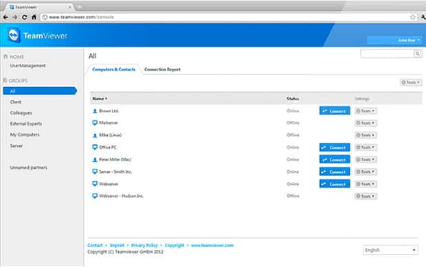 teamviewer web management console