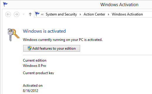 windows is activated