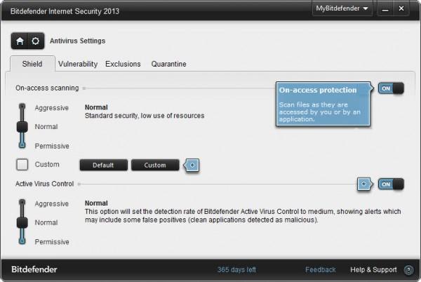 bitdefender internet security settings