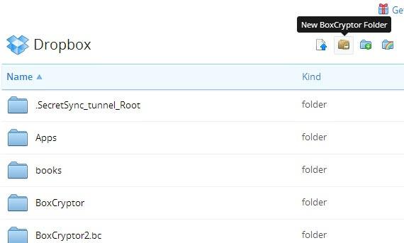 boxcryptor folder chrome